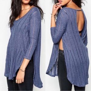 Free People•Astoria Ribbed Knit Tunic Top NWT!